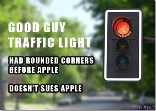 good guy traffic light and apple