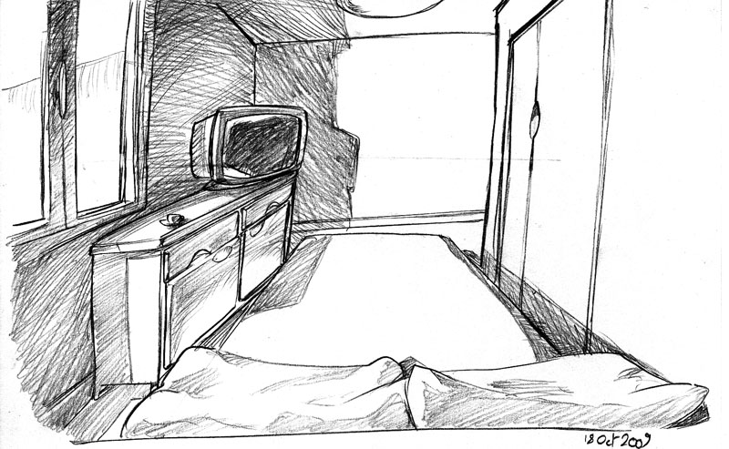 Beautiful chambre en perspective avec point de fuite photos for Dessin chambre perspective