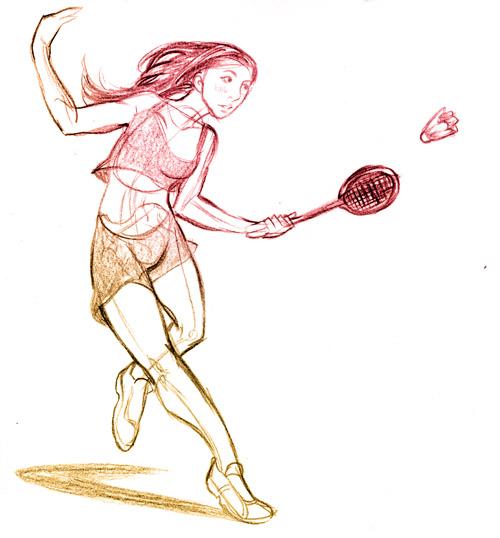 badminton fille