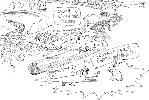 crocodile pleure et lapin