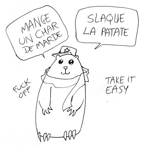 quebecois canadien lesson slaque la patate mange un char de marde