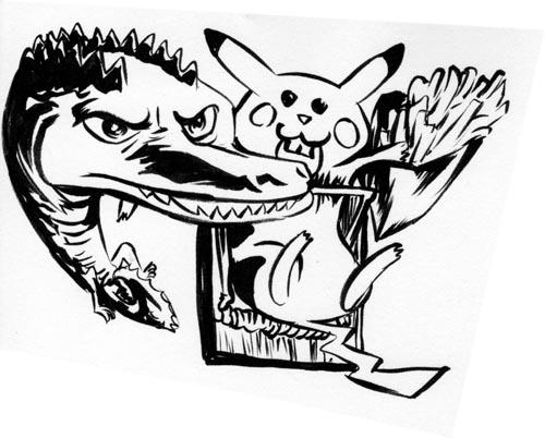 croco pikachu frites