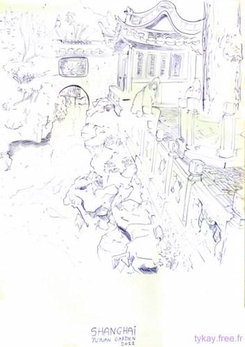 jardin yuyuan dessin