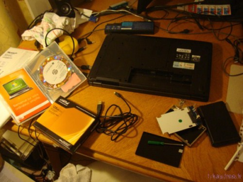 hacking de PC portable, tutoriel pour placer un SSD