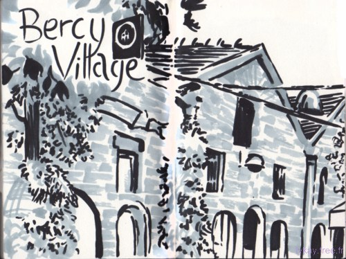 bercy village sketch 1