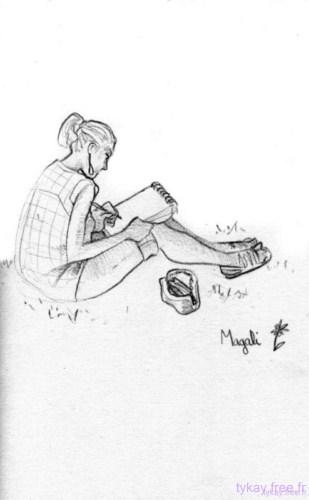 dessin petite vadrouille parc de bercy vanessa par magali