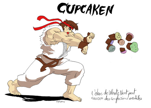street fighter cupcake hadoken